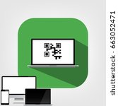 Qr Code Flat Icon With Long...
