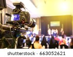 video dslr camera social... | Shutterstock . vector #663052621