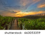 in dusk and beautiful sky  the...   Shutterstock . vector #663053359