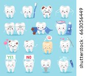 tooth character personage... | Shutterstock .eps vector #663056449