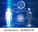technology with science in... | Shutterstock .eps vector #663060739