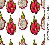 exotic seamless vector pattern. ... | Shutterstock .eps vector #663061381