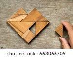 Tangram Puzzle In Heart Shape...