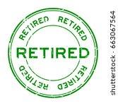Grunge Green Retired Round...