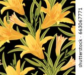 Seamless Pattern Of Lily...
