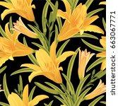 Seamless Pattern Of Lily...
