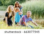 family parenting love... | Shutterstock . vector #663077545