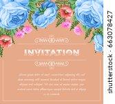bridal shower or wedding... | Shutterstock .eps vector #663078427