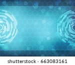 cyber security concept  on... | Shutterstock .eps vector #663083161