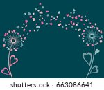 couple pink and blue of... | Shutterstock .eps vector #663086641