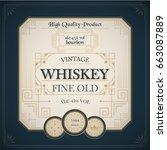 western whiskey label vintage... | Shutterstock .eps vector #663087889