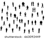 silhouette of man  go stand ... | Shutterstock .eps vector #663092449