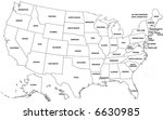 map of usa | Shutterstock . vector #6630985