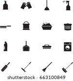 cleaning tools icon   Shutterstock .eps vector #663100849
