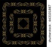vector set of vintage frames...   Shutterstock .eps vector #663101887