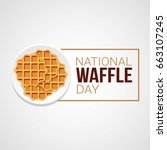 National Waffle Day Vector...