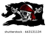 Black Ragged Pirate Flag With...