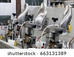 machines and equipment of the... | Shutterstock . vector #663131389