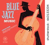 blue jazz music | Shutterstock .eps vector #663133204