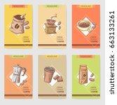 coffee hand drawn cards...