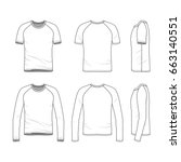 vector templates of clothing... | Shutterstock .eps vector #663140551