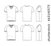 vector templates of clothing... | Shutterstock .eps vector #663140575
