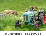 Old Tractor On Meadow....