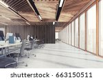 side view of an open space... | Shutterstock . vector #663150511