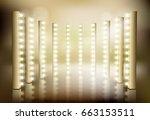 light performance. vector... | Shutterstock .eps vector #663153511