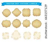 set of vintage frames for... | Shutterstock .eps vector #663157129