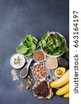 healthy food nutrition dieting... | Shutterstock . vector #663164197