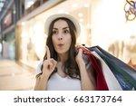 oh  i forgot to buy something.... | Shutterstock . vector #663173764