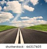asphalt road | Shutterstock . vector #66317605