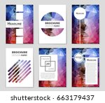 abstract vector layout... | Shutterstock .eps vector #663179437