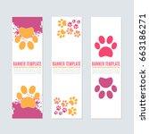 vertical style petshop ad... | Shutterstock .eps vector #663186271