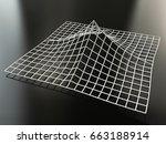 mountain wireframe terrain... | Shutterstock . vector #663188914