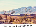 Small photo of Sand dunes in Death Valley National Park, California, USA