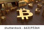 investment concept. golden... | Shutterstock . vector #663195364