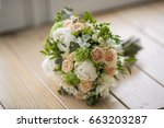 beautiful wedding bouquet... | Shutterstock . vector #663203287