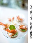 selective focus on spicy prawn... | Shutterstock . vector #663203461