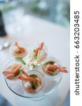 selective focus on spicy prawn... | Shutterstock . vector #663203485