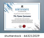 cyan multipurpose modern... | Shutterstock .eps vector #663212029