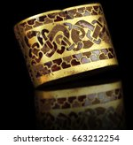 Stock photo largest hoard of anglo saxon gold ever found hilt fitting 663212254