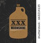 moonshine jug pure original...   Shutterstock .eps vector #663214135