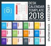 desk calendar design... | Shutterstock .eps vector #663215689