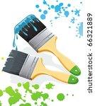 paintbrush brushing paint.... | Shutterstock .eps vector #66321889