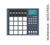 drum machine vector