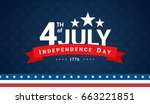 4th of july  independence day... | Shutterstock .eps vector #663221851