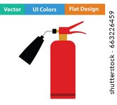 fire extinguisher icon. flat... | Shutterstock .eps vector #663226459
