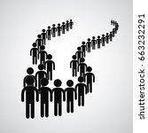 long queue symbol vector format    Shutterstock .eps vector #663232291